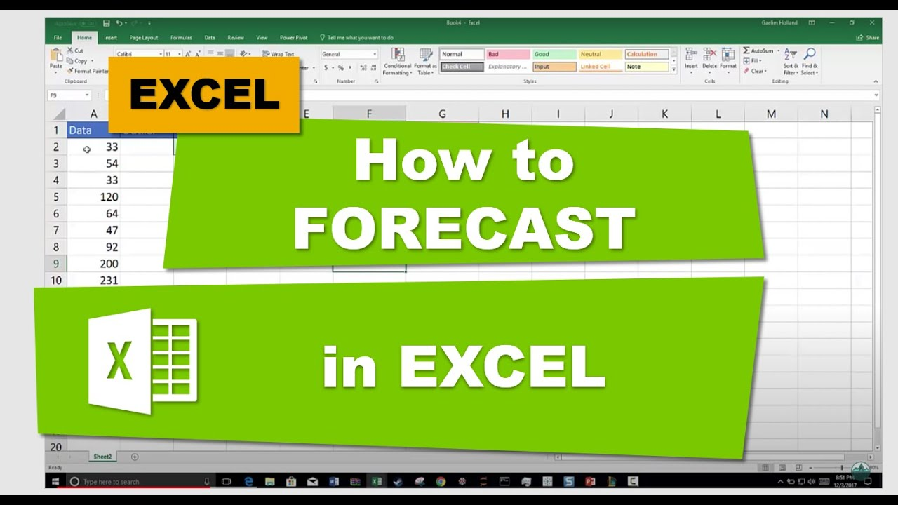 forcast in excel
